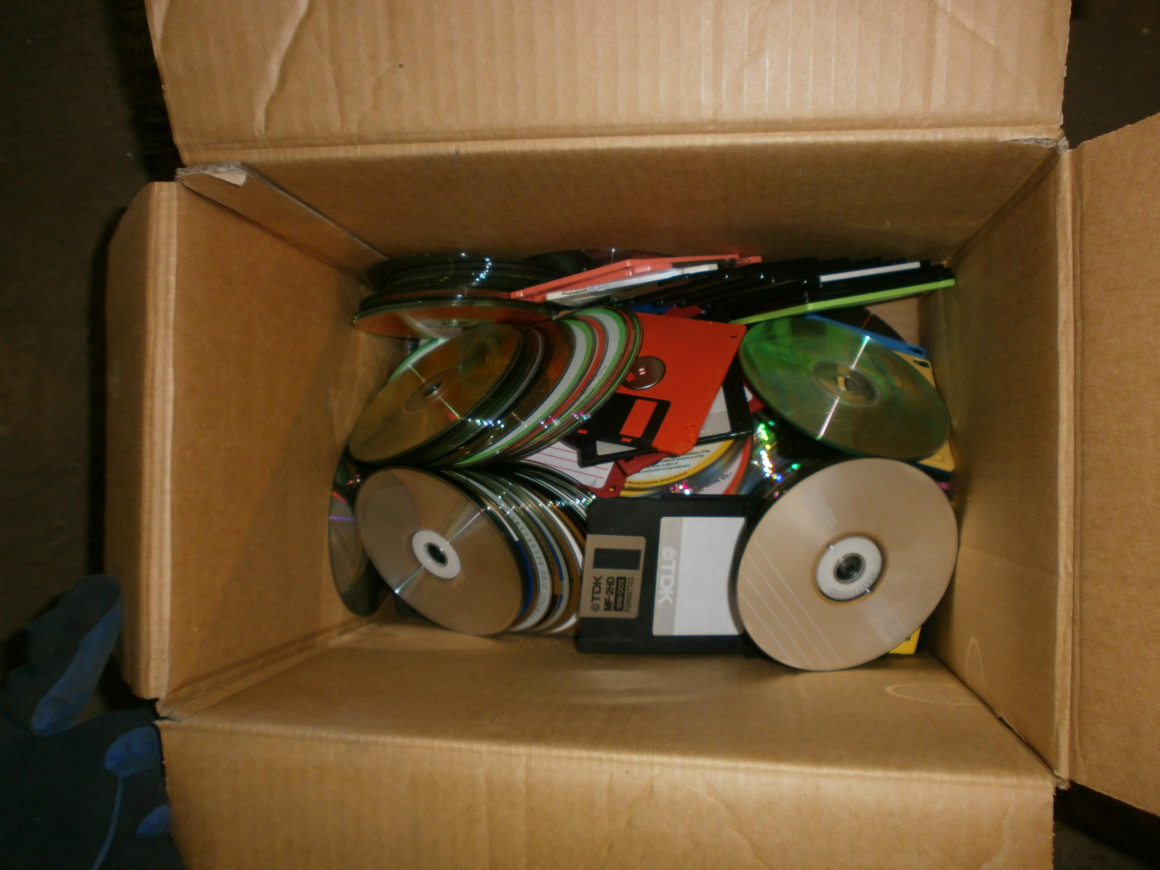 Уничтожение CD дисков и дискет